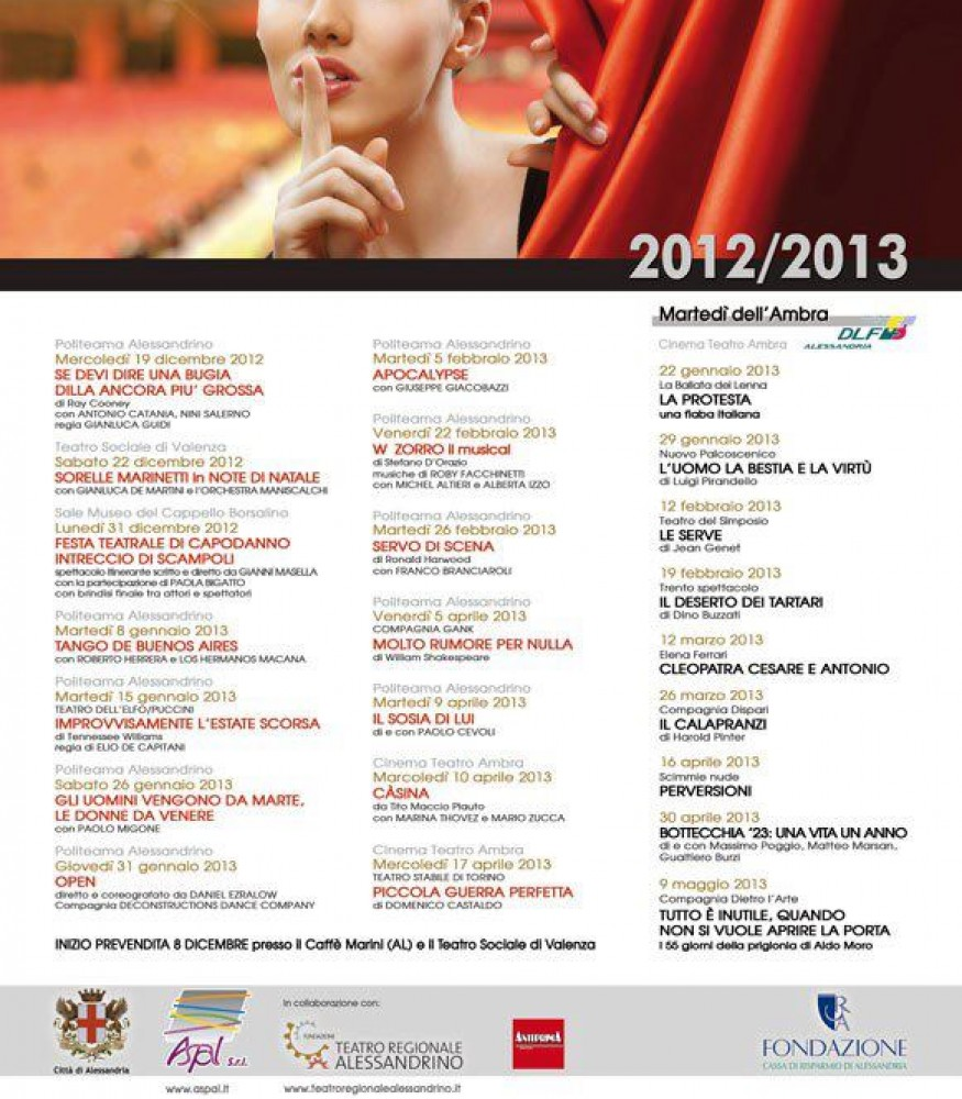 Stagione Teatrale 2012/13